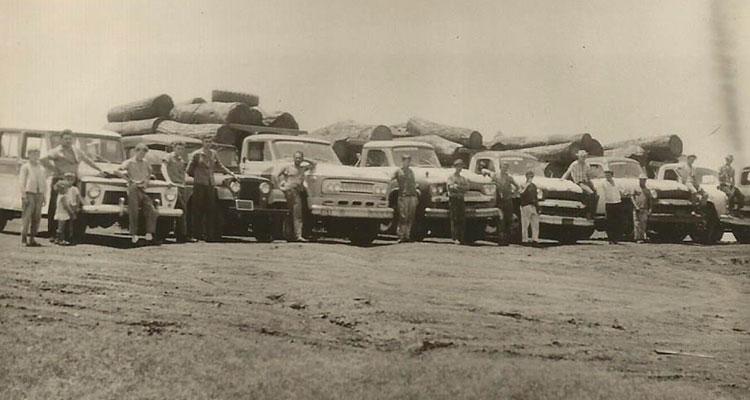 [Foto da empresa em 1974]